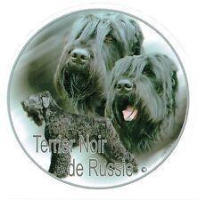 Aufkleber Schwarzer Russischer Terrier 1 Black Russian Terrier Autoaufkleber