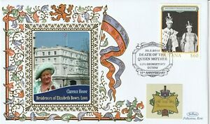 GUYANA 2012 QUEEN MOTHER 10th ANNIVERSARY OF HER DEATH BENHAM COVER CLARENCE HSE