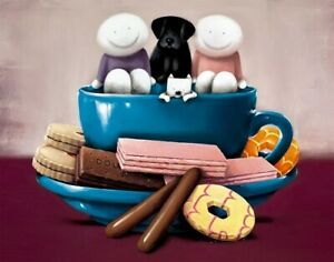 """DOUG HYDE  """"A CUP OF LOVE"""" NEW LTD EDT GICLEE PRINT MOUNTED"""