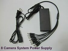 DC 12VDC 5A Power Supply Adapter CCTV Security Camera DVR + 8 Split Zmodo,Q-See