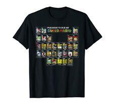 Black Nintendo Super Mario Periodic Table Graphic T-Shirt  US Men's trend 2019