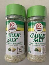 Lawrys Garlic Salt Spice Course Ground Parsley 11oz LOT OF 2
