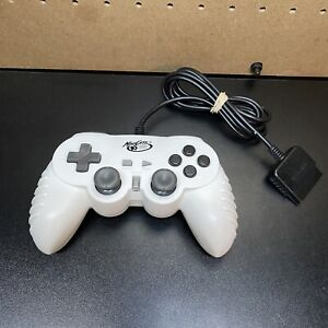 Madcatz Control Pad Pro Wired Controller - Sony Playstation 2-White-8216-Tested