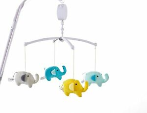 Elephant Musical Baby Crib Mobile - multi color New in Box