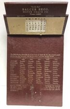 Balcer Brothers Motor Coach Bus Bay City MI  Perpetual Calendar Clipboard 50s