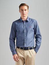 """(OfferEnd 22/3) Thomas Pink Landguard Blue Classic-Fit Weekend Dress Shirt 15"""""""