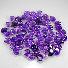 6 PIECES OF 5x3mm OVAL CABOCHON-CUT DEEP-PURPLE NATURAL AFRICAN AMETHYST GEMS