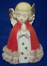 Vtg Mid Century Japan Red Felt Praying Angel Christmas Figurine