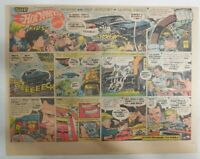 Mattell Hot Wheels Ad: Hot Wheels Kids by Alex Toth ! 1970 Size: 11 x 15 inches