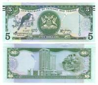 TRINIDAD & TOBAGO UNC $5 Dollars (2006) P-47b Rambarran Banknote Paper Money