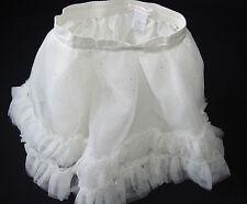 Janie Jack Tulle Ballet Skirt Beautifully Adorned Cream Ivory Gold Sparkle 18 mo