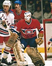 "Signed  8x10 DENIS HERRON ""81 Vezina"" Montreal Canadiens Photo - w/ Show Ticket"