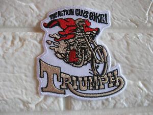 Aufnäher Patch Triumph Biker-MC Motorradsport Motorrad Racing Tuning GT FX Race