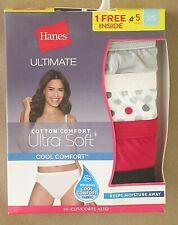 NWT Hanes 5 Pack Ultimate Ultra Soft Cool Comfort Hi-Cut Panties Size 5/S