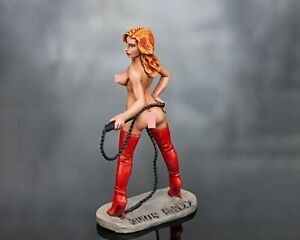 tin toy soldiers  54 mm painted sexy girl. a girl with a whip