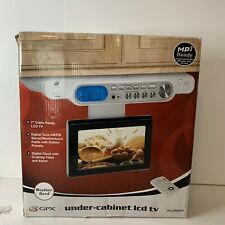 """GPX Under Cabinet 7"""" LCD TV, Digital Tuner Timer AM/FM Stereo Remote New Openbox"""