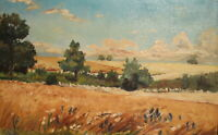 CLAUDE MONET, ANTIQUE IMPRESSIONIST OIL PAINTING LANDSCAPE SIGNED REPRO