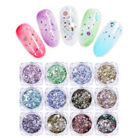 Nail Sequins Glitter Colorful Shining Irregular Sparkly Nail Art Decoration
