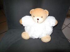 361/ doudou boule ours fourrure blanc Fur KALOO 17cm