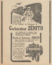 Z8404 Carburateur ZENITH - Pubblicità d'epoca - 1918 Old advertising