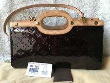 Auth Louis Vuitton Roxbury Drive Amarante Monogram Vernis Excellent Condition