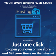 ECOMMERCE WEBSITE / ONLINE SHOP - START YOUR OWN ONLINE STORE NOW SELL PRODUCTS