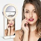 Portable Selfie LED Light Ring Fill Camera Flash For Cell Phone Universal Device