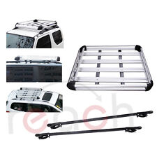 New Aluminum Car Roof Cargo Carrier Luggage Basket Rack Top w/Crossbars