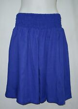 LADIES SHIRRED WAIST BEACH SHORTS / PANTS plus size 22 , 24, 26 BLUE NEW 1B34426