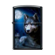 Zippo Lighter - Pack of Wolves Black Matte - 854025