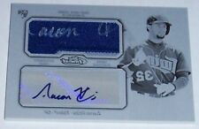 2013 TOPPS FINEST AARON HICKS BLK PRINTING PLATE AUTO/JERSEY RC #1/1 ONLY 1 MADE