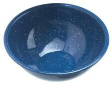 """GSI Outdoor Blue Enamelware 6"""" Cereal Soup Serving Bowl Camping Scouts Hunting"""