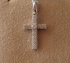 Diamond Cross Pendant - Approx. .17 cts.,14k. White Gold