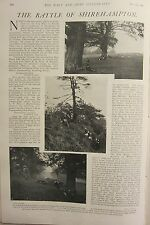 1902 PRINT ~ BATTLE OF SHIREHAMPTON RED FORCE DELAYING ENEMY ADVANCE POSTION