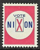 Political Presidential Campaign Mailing Label Vote for Nixon from 1960