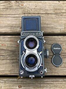 Vintage Camera Yashica 44 Modified To Shoot 35mm Film **PERFECT OPTICS**