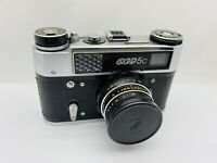 Fed 5c USSR Russian 35mm Rangefinder Film Camera w/ Industar-61 f2.8 55 mm Lens