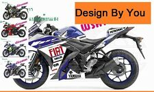 Yamaha R3 R25 YZF Sticker Designed By You Full Body Fits Race Graphic Fairings