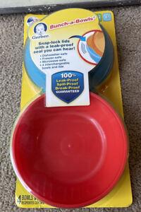 Gerber Graduates Bunch-a-Bowls with Snap-Lock Lids 4 ea BPA Free