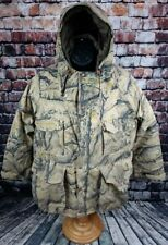 Cabelas ROCKAFLAGE CAMO Goretex Jacket Mens Medium Insulated Rain Hunting Hooded