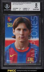 2004 Panini Sports Mega Cracks Barca Campeon Lionel Messi ROOKIE RC #35 BGS 8