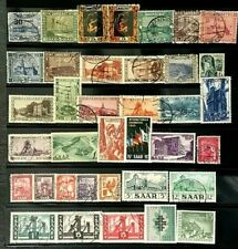 SAARLAND GERMANY Small COLLECTION (50 stamps) of Mostly Used LH  Classics (8-108