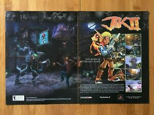 Jak II 2 PS2 Playstation 2 2003 Print Ad/Poster Official Authentic Art Daxter