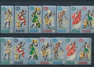 LN18883 Burundi perf/imperf traditional clothing folklore fine lot MNH