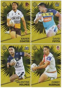 2021 NRL TLA RIVALRY - 'GOLD PARALLEL' CARDS - CHOOSE YOUR CARD