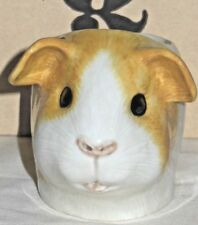 Quail Pottery  GUINEA PIG FACE EGG CUP - GOLD + WHITE