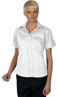 Edwards Garment Women's Wrinkle Free Open Neck Poplin Blouse Shirt. 5245