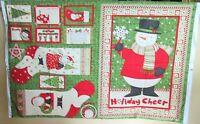 "1 Debbie Mumm ""Ho Ho Holiday"" Christmas Cotton Fabric Quilting Panel"