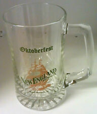 New England Brewing Co. Octoberfest Sono Glass Mug Collectible New Vintage Lg.
