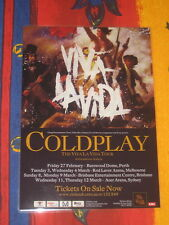 COLDPLAY -  VIVA LA VIDA  AUSTRALIAN  TOUR  -  PROMO TOUR POSTER